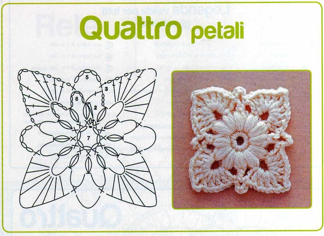 Punti all 39 uncinetto cerchi fiori piastrelle e triangoli - Fiore collegare i punti ...