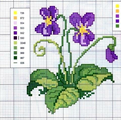 Eccezionale Schemi punto croce - fiori | Tizzi ed il suo mondo imperfetto OJ69