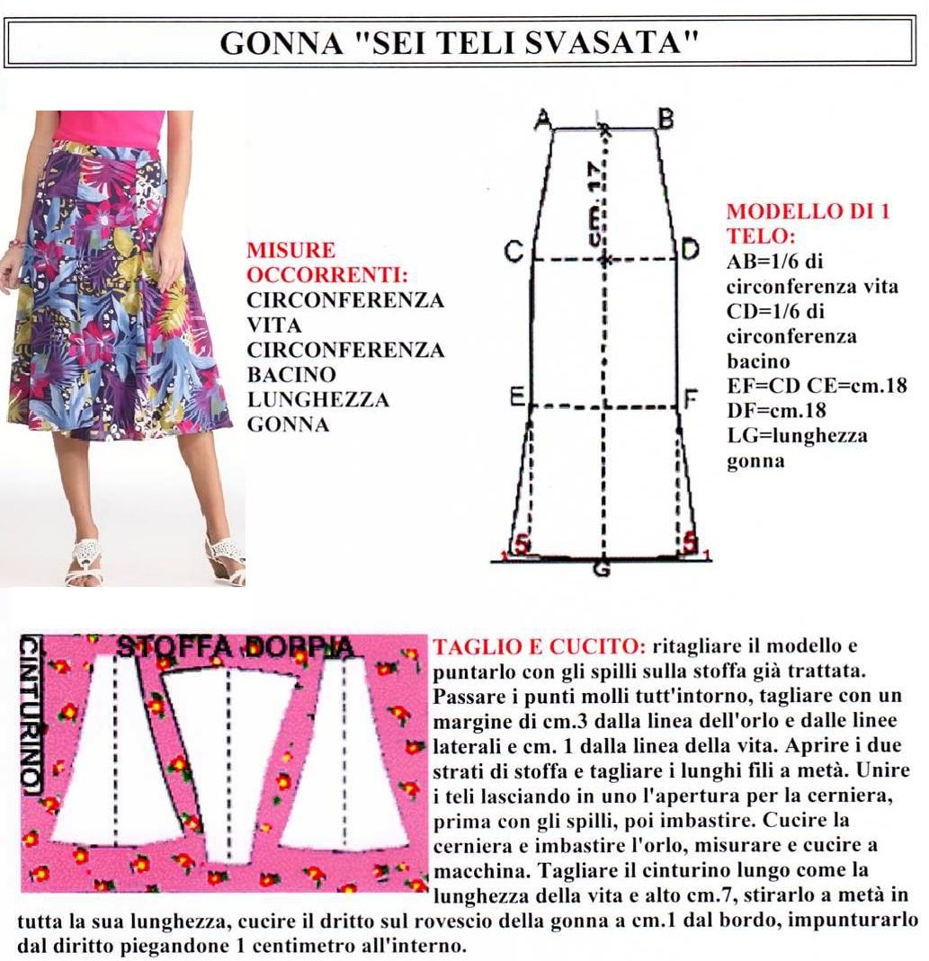 """new concept b8565 39951 Gonna """"sei teli svasata"""""""